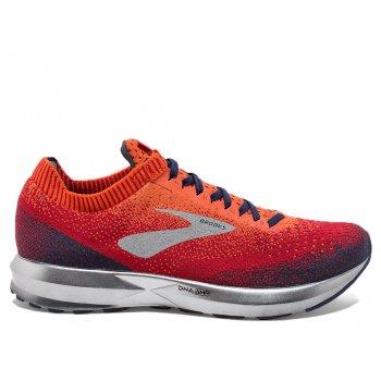 buty brooks levitate 2 m granatowo-pomarańczowe