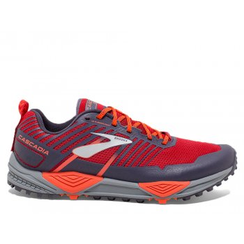 buty brooks cascadia 13 m pomarańczowo-czerwone