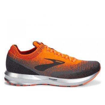 buty brooks levitate 2 m czarno-pomarańczowe