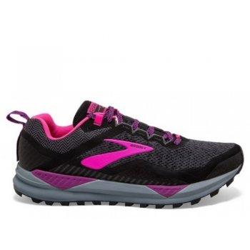 buty brooks cascadia 14 w różowo-szare