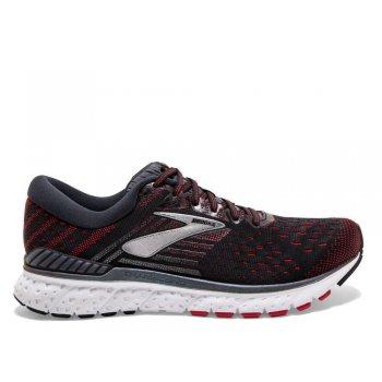 buty brooks transcend 6 m czerwono-czarne