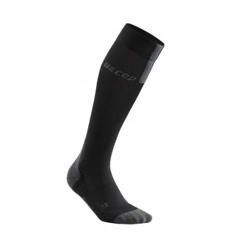 skarpety cep run compression socks 3.0 m szaro-czarne