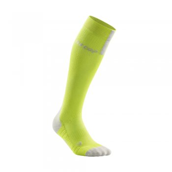 skarpety cep run compression socks 3.0 m szaro-zielone