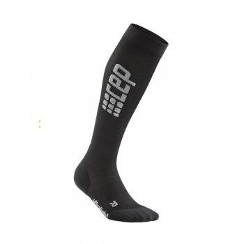 skarpety cep run compression socks 3.0 w szaro-czarne