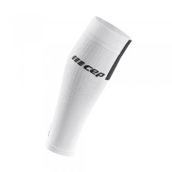 opaska kompresyjna cep calf sleeves 3.0 w szaro-biała
