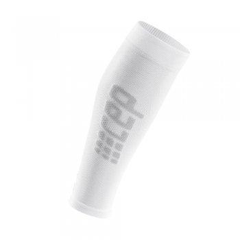 opaski kompresyjne cep ultralight calf sleeves m szaro-białe