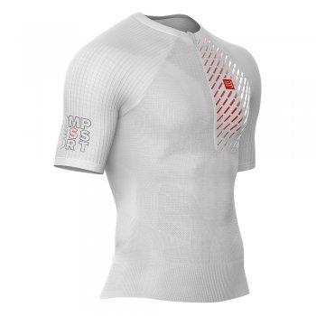 koszulka compressport trail running postural ss top m biała