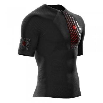 koszulka compressport trail running postural ss top m czarna