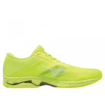buty mizuno wave shadow 3 m zielono-Żółte
