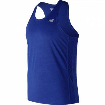 koszulka new balance accelerate singlet m niebieska
