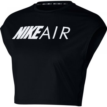 koszulka nike air short-sleeve crop top w czarna