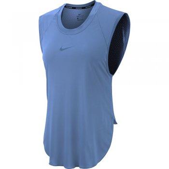koszulka nike city sleek cook tank w stalowo-niebieska