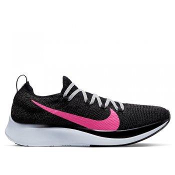 buty nike zoom fly flyknit w różowo-czarne