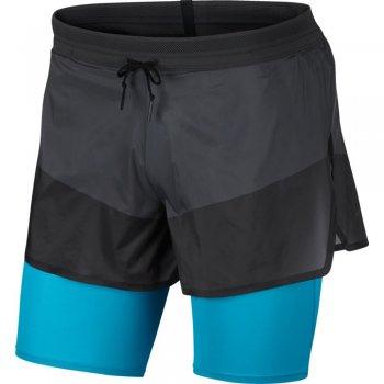spodenki nike tech pack 2-in-1 shorts m połyskliwa-czerń błękitne