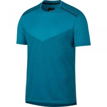 koszulka nike tech pack running top m turkusowo-niebieska