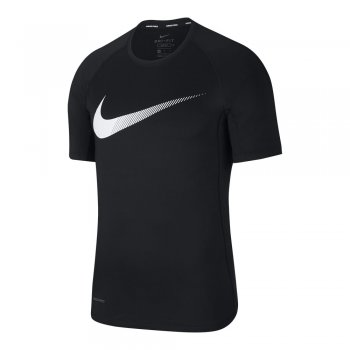 koszulka nike pro short-sleeve graphic top m czarna