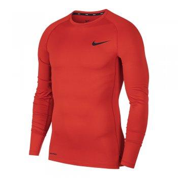 bluzka nike pro longsleeve top m czerwona