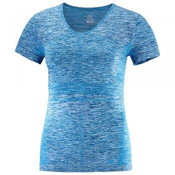 koszulka salomon elevate move'on ss tee w morska-niebieska