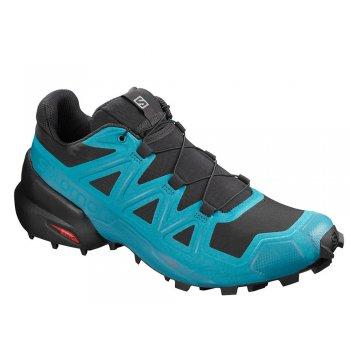 buty salomon speedcross 5 m czarno-niebieskie
