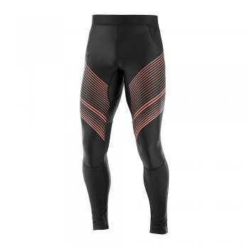 spodnie salomon fast wing long tight m czarne