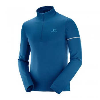 bluza salomon agile hz mid m niebieska