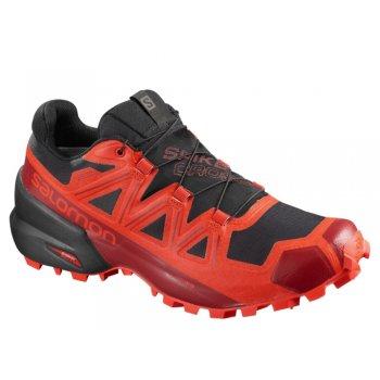 buty salomon spikecross 5 gtx m czarno-czerwone