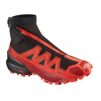 buty salomon snowspike cswp czarno-czerwone