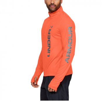 bluza under armour speed stride split quarter zip m pomarańczowa