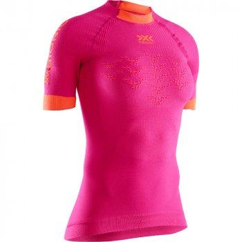koszulka x-bionic the trick 4.0 run shirt w różowa