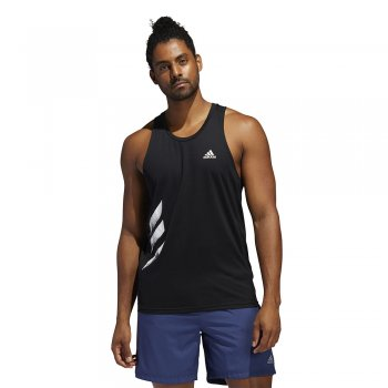 adidas own the run 3-stripies pb singlet m czarny