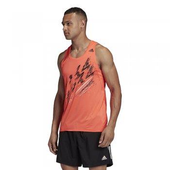 adidas speed singlet m pomarańczowy