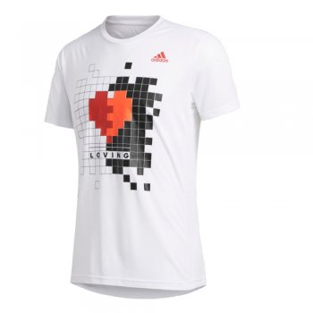 adidas own the run valentine tee m biała