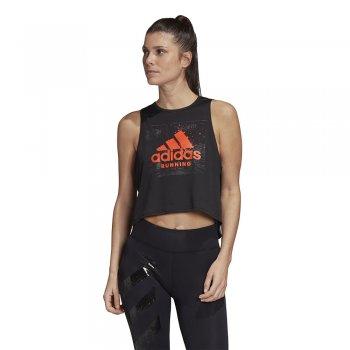 koszulka adidas fast graphic crop tee w czarna