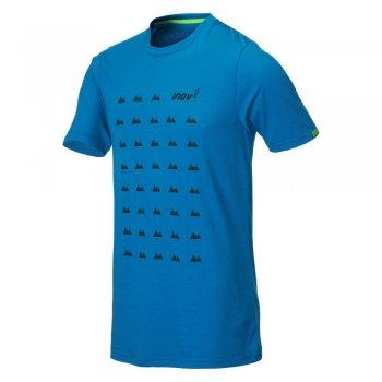 koszulka inov-8 triblend ss grid m niebieska