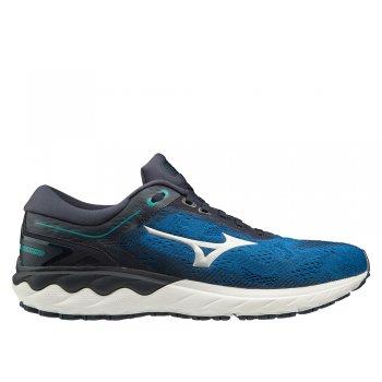 buty mizuno wave skyrise m niebiesko-czarne
