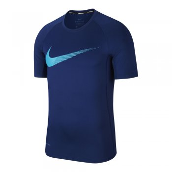 koszulka nike pro short-sleeve graphic top m granatowo-niebieska