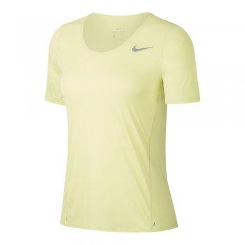 koszulka nike city sleek top w cytrynowa