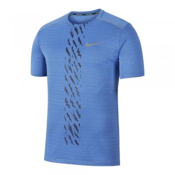 koszulka nike dri-fit miler short-sleeve m niebieska