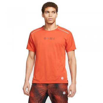 koszulka nike rise 365 top short-sleeve m pomarańczowa