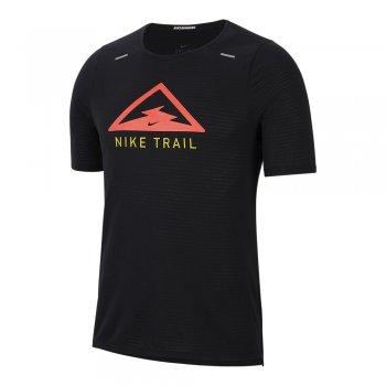 koszulka nike rise 365 top trail m czarna