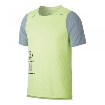 koszulka nike wild run rise 365 top ss m limonkowo-szara