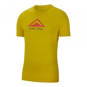 koszulka nike dri-fit tee trail m Żółta