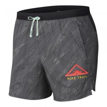 spodenki nike flex stride trail running shorts m czarno-białe