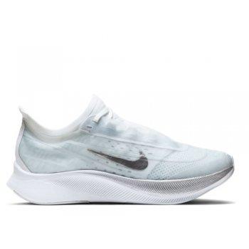 buty nike zoom fly 3 w biało-srebrne