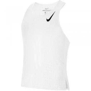 koszulka nike aeroswift singlet m biała